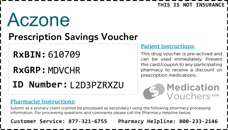 Aczone Medicationvouchers Com Free Prescription Savings Vouchers
