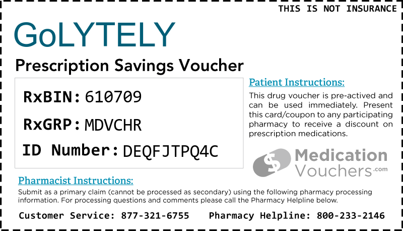 Golytely Medicationvouchers Free Prescription Savings Vouchers