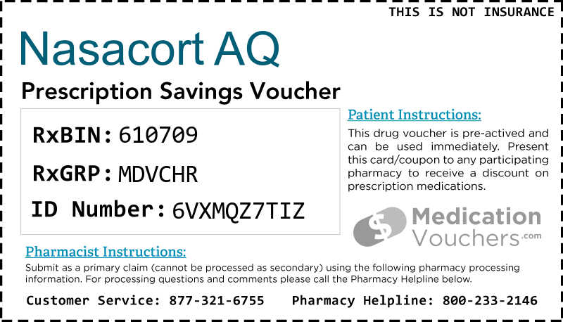 Nasacort Aq Medicationvouchers Free Prescription Savings