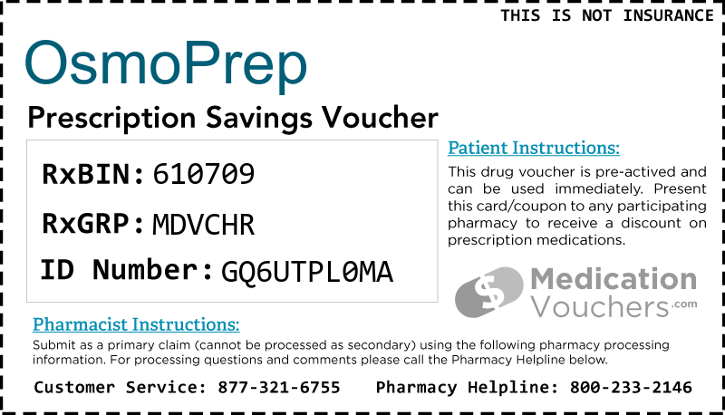 Osmoprep Medicationvouchers Free Prescription Savings Vouchers